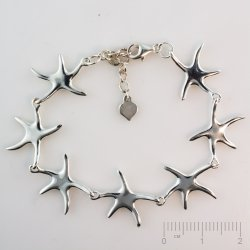 Silberteil 925 Armband Sea Star