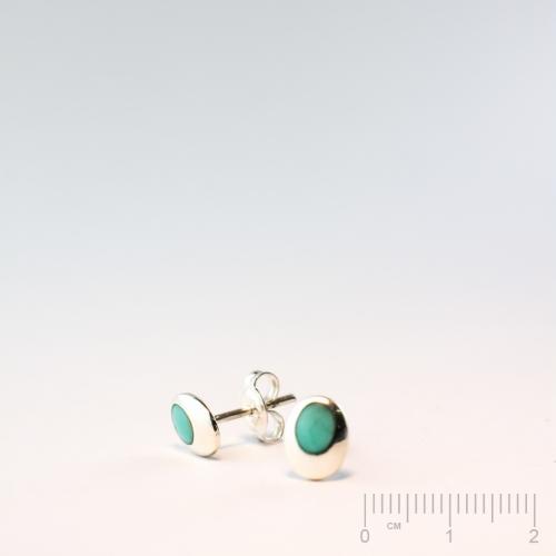 Silberteil 925 Ohrstecker mit Magnesit-Türkis gefärbt oval 5x7mm ...