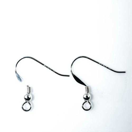 Silberteil 925 Ohrhänger offen mit Spirale & Kugel, 19mm, Ohrteile ...